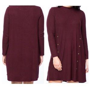 ➕Mock Ribbed Dress